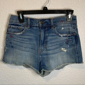 Hollister High Rise Vintage Cut Off Shorts